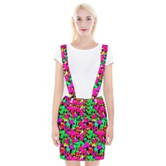 Colorful Leaves Braces Suspender Skirt