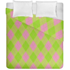 Plaid Pattern Duvet Cover Double Side (california King Size) by Valentinaart