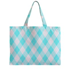 Plaid Pattern Zipper Mini Tote Bag by Valentinaart