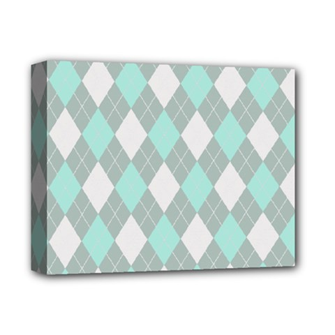 Plaid Pattern Deluxe Canvas 14  X 11  by Valentinaart