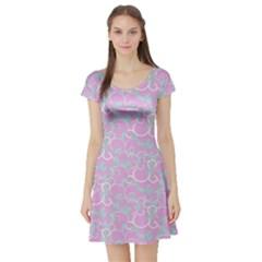 Plaid Pattern Short Sleeve Skater Dress