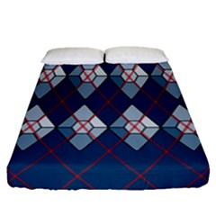Diamonds And Lasers Argyle  Fitted Sheet (queen Size) by emilyzragz