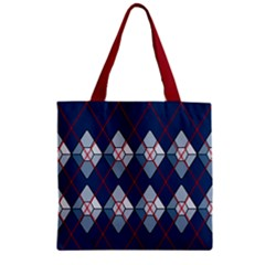 Diamonds And Lasers Argyle  Zipper Grocery Tote Bag by emilyzragz