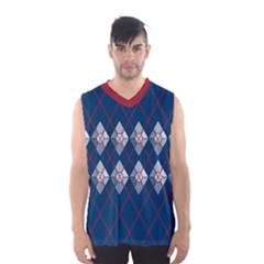 Diamonds And Lasers Argyle  Men s Basketball Tank Top by emilyzragz
