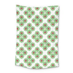 Floral Collage Pattern Small Tapestry by dflcprints