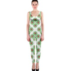 Floral Collage Pattern Onepiece Catsuit by dflcprintsclothing