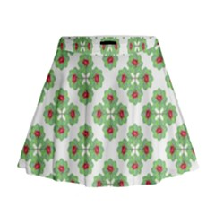 Floral Collage Pattern Mini Flare Skirt by dflcprintsclothing