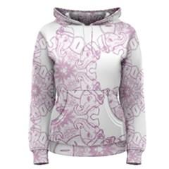 Ganja Ganesh Pattern (pink) Women s Pullover Hoodie by getstonedinstyle