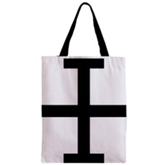 Cross Potent Zipper Classic Tote Bag by abbeyz71