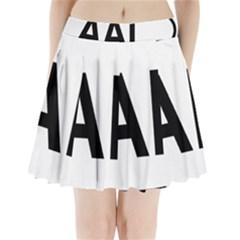 Albania Country Code  Pleated Mini Skirt by abbeyz71