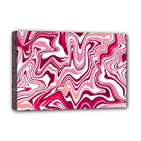 Pink Marble Pattern Deluxe Canvas 18  X 12   by tarastyle