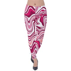 Pink Marble Pattern Velvet Leggings by tarastyle