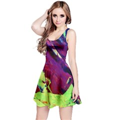 Abstract Painting ,blue,yellow,red,green Reversible Sleeveless Dress by Costasonlineshop