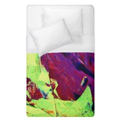 Abstract Painting ,blue,yellow,red,green Duvet Cover (single Size) by Costasonlineshop