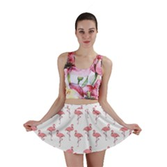 Pink Flamingo Pattern Mini Skirt by CrypticFragmentsColors