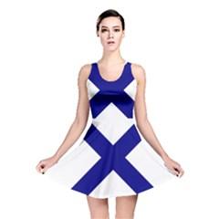 Saint Andrew s Cross Reversible Skater Dress