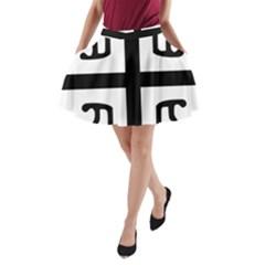 Serbian Cross A Line Pocket Skirt by abbeyz71