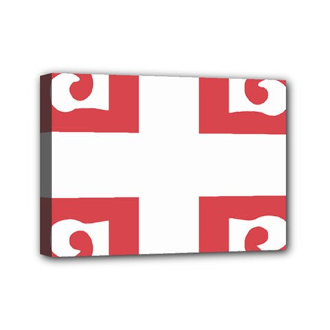 Serbian Cross  Mini Canvas 7  X 5  by abbeyz71