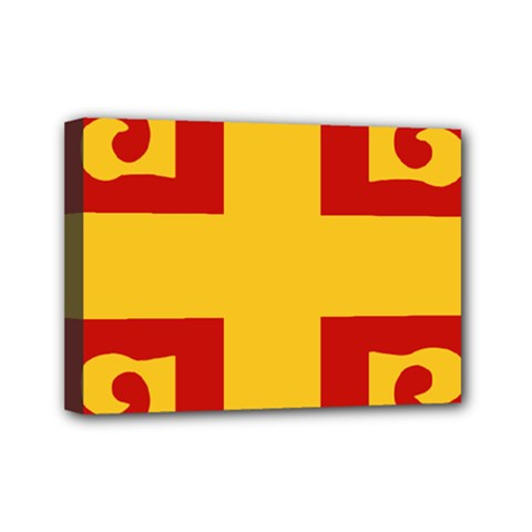 Byzantine Imperial Flag, 14th Century Mini Canvas 7  X 5  by abbeyz71