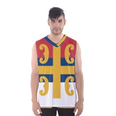 Flag Of The Serbian Orthodox Church Men s Basketball Tank Top