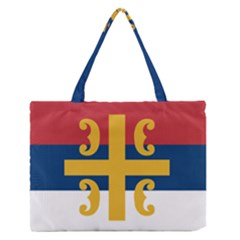 Flag Of The Serbian Orthodox Church Medium Zipper Tote Bag by abbeyz71