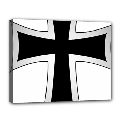 Cross Of The Teutonic Order Canvas 14  X 11  by abbeyz71