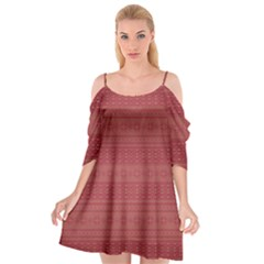 Pattern Cutout Spaghetti Strap Chiffon Dress