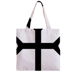 Eastern Syriac Cross Zipper Grocery Tote Bag by abbeyz71