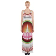 Ayyavazhi Symbol  Maxi Thigh Split Dress by abbeyz71