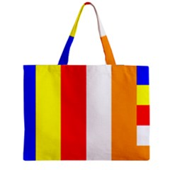 International Flag Of Buddhism Medium Zipper Tote Bag by abbeyz71