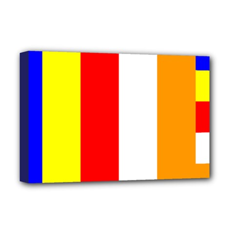 International Flag Of Buddhism Deluxe Canvas 18  X 12   by abbeyz71