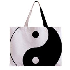 Yin & Yang Zipper Mini Tote Bag by abbeyz71