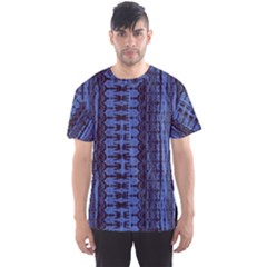 Wrinkly Batik Pattern   Blue Black Men s Sport Mesh Tee by EDDArt