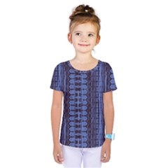 Wrinkly Batik Pattern   Blue Black Kids  One Piece Tee by EDDArt