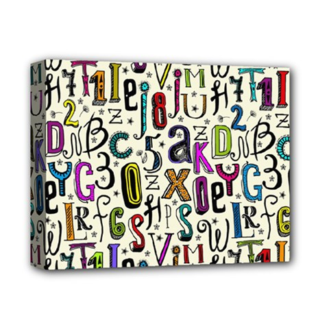 Colorful Retro Style Letters Numbers Stars Deluxe Canvas 14  X 11  by EDDArt