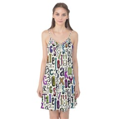 Colorful Retro Style Letters Numbers Stars Camis Nightgown by EDDArt
