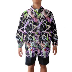 Chaos With Letters Black Multicolored Wind Breaker (kids) by EDDArt