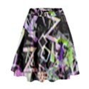 Chaos With Letters Black Multicolored High Waist Skirt View1