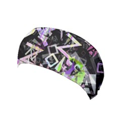 Chaos With Letters Black Multicolored Yoga Headband