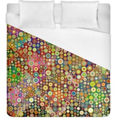 Multicolored Retro Spots Polka Dots Pattern Duvet Cover (king Size) by EDDArt