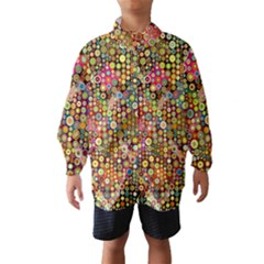 Multicolored Retro Spots Polka Dots Pattern Wind Breaker (kids) by EDDArt