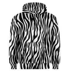 Zebra Stripes Pattern Traditional Colors Black White Men s Zipper Hoodie by EDDArt