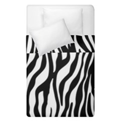 Zebra Stripes Pattern Traditional Colors Black White Duvet Cover Double Side (single Size) by EDDArt