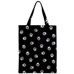 Footprints Dog White Black Classic Tote Bag by EDDArt