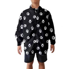 Footprints Dog White Black Wind Breaker (kids) by EDDArt