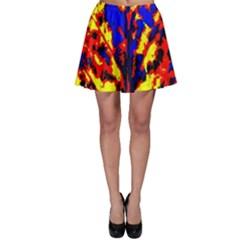 Fire Tree Pop Art Skater Skirt by Costasonlineshop