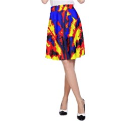 Fire Tree Pop Art A Line Skirt