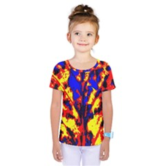 Fire Tree Pop Art Kids  One Piece Tee