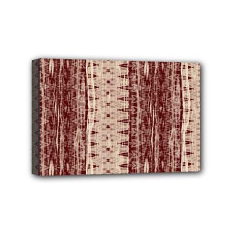 Wrinkly Batik Pattern Brown Beige Mini Canvas 6  X 4  by EDDArt