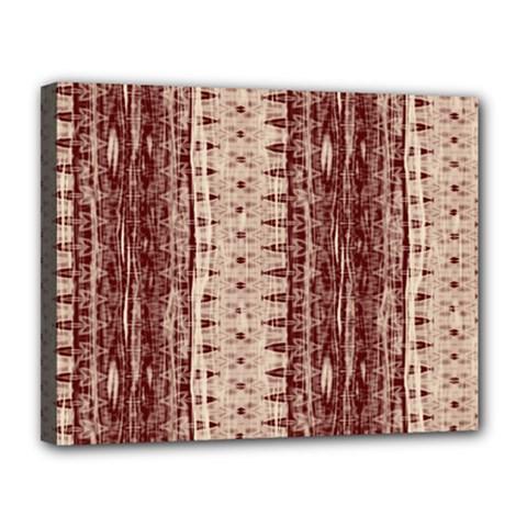 Wrinkly Batik Pattern Brown Beige Canvas 14  X 11  by EDDArt